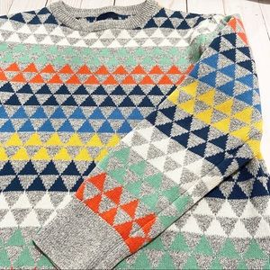 GAP KIDS Abstract Multicolor Long Sleeve Sweater